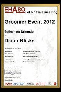 Teilnahmeurkunde Ehaso Event 2012